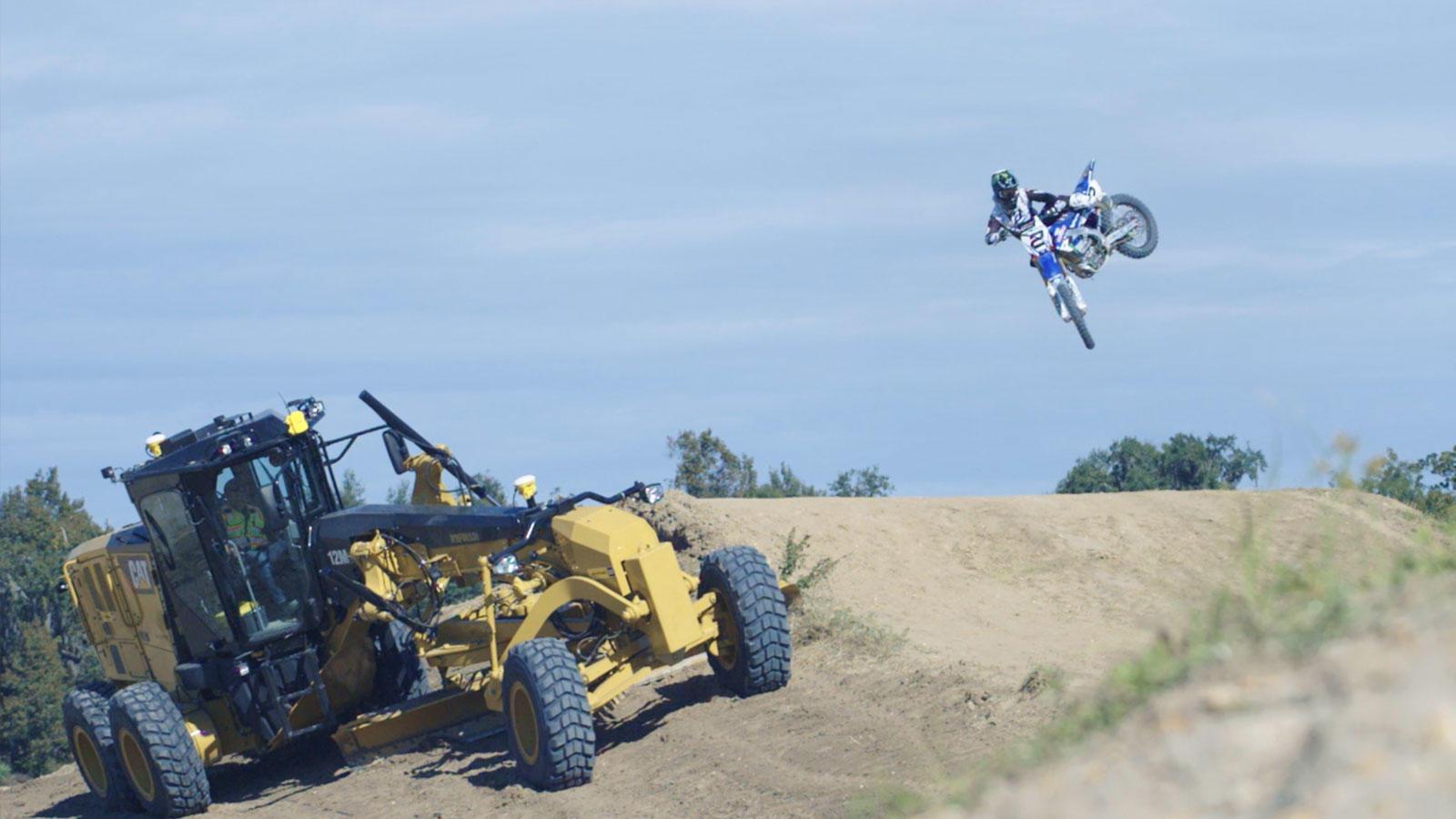 ryan villopoto jumps over a motor grader