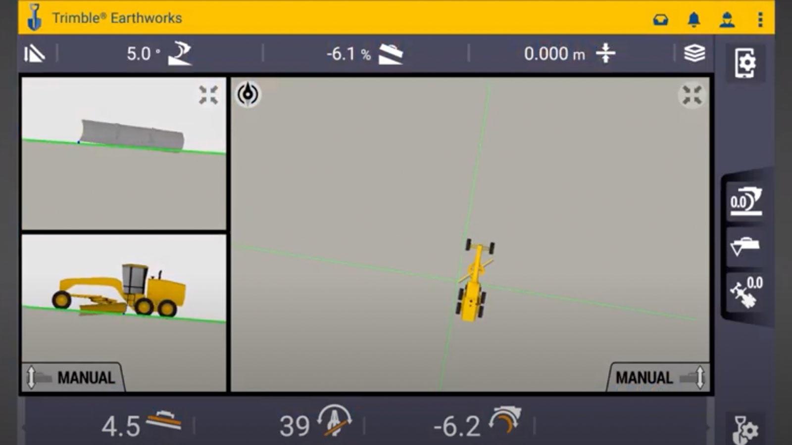 trimble earthworks software for motor graders